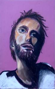 Portrait aux pastels sec